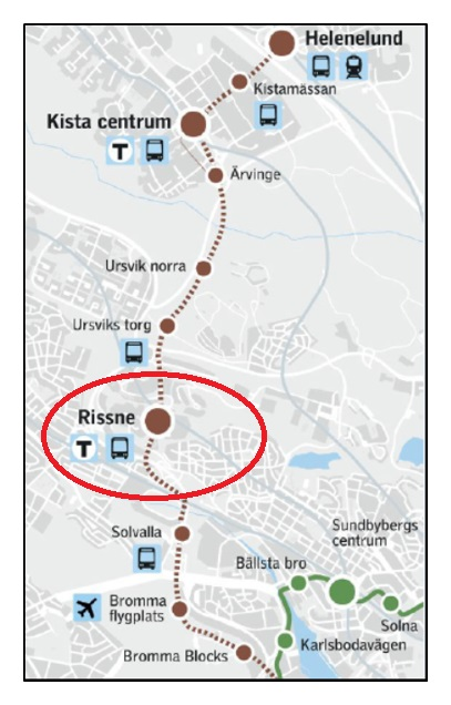 Tvarbana Kistagrenen I Rissne Sundbybergs Stad